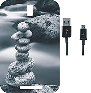 BKDT Marketing Printed Back Cover for Lava Iris Alfa L With Charging Cable