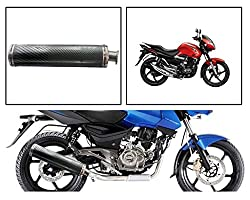 Vheelocityin 83989 Round Carbon Motorcycle Exhaust for Suzuki GS150R