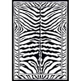 Home Dynamix Zone 7160-450 Ebony 5-Feet 2-Inch by 7-Feet 4-Inch Zebra Area Rug