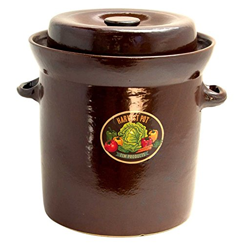 TSM Products 31043 Harvest Fiesta Fermentation Pot with Stone Weight, 20-Liter