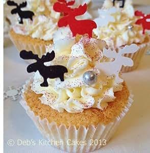 Edible Christmas Cake Decorations Sainsburys : Christmas Cake Decorations - Edible Wafer Reindeers ...