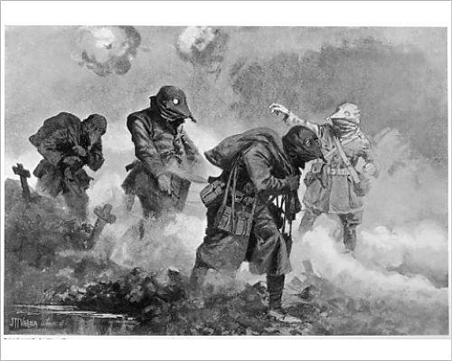 Photographic Print Of Ww1/1917/Gas Attack