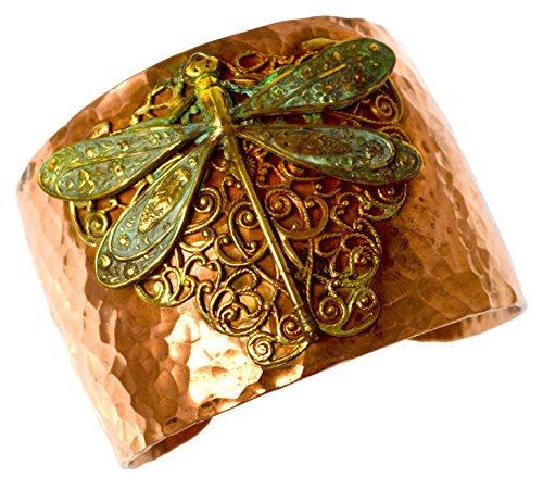 forjado-cobre-y-acabado-en-laton-termita-libelula-con-filigrana-cuff-pulsera