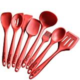 TTLIFE Silicone Spatula Utensil Kitchen 8 Pieces With Turner, Slotted spoon, Ladle, Spoon, Spoon Spatula, Spooula, Spatula, Basting brush
