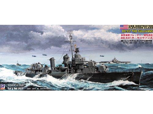 ピットロード 1/700 米国海軍 フレッチャー級駆逐艦 DD-537 サリヴァン