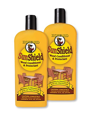 Sun Wax, Outside Wax for Wood, UV Protection, 16oz 2 Bottle Pack (Outdoor Wood Furniture Oil compare prices)