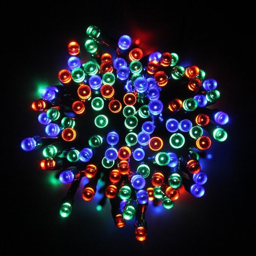 Grde™ 17M 55Ft 100 Led Solar Powered String Light Holiday Fairy Lights For Outdoor Gardens, Homes, Christmas, Partys, Weddings, Xmas, Easter, Festivals (Rgb)