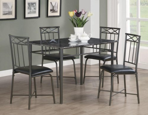 5pc-dining-table-and-chairs-set-with-faux-marble-top-in-black-finish