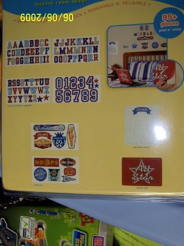 Instant Room Decor 95+ Letters & Numbers -Boy Theme (Value Pk)