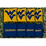 West Virginia WVU Mountaineers Replacement Cornhole Bag Set (corn-filled)