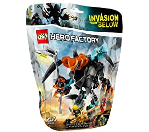 LEGO Hero Factory - Splitter Beast vs. Furno and Evo - 44021 - Attention, heroes! SPLITTER Beast is a titanic two-headed beast guarding the biggest crevice in Antropolis City where the evil creatures are hiding