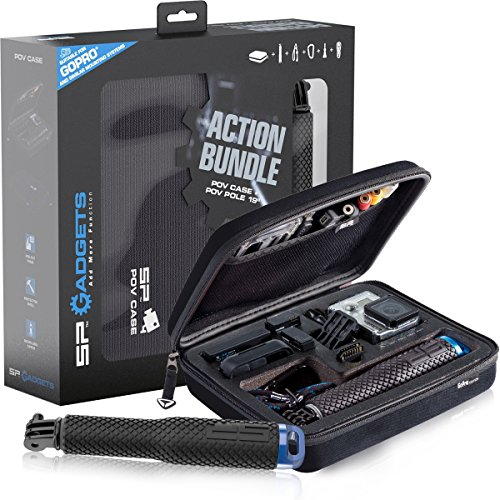 SP Gadgets Action Bundle POV Case and Pole 19 inch - Black