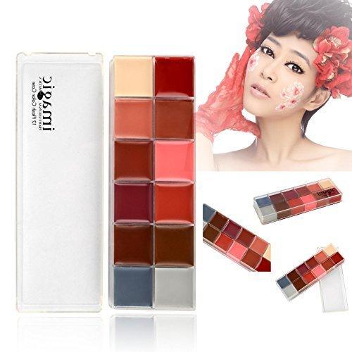 iDealhere(TM) Palette Maquillage de 12 Face Lipstick Lip Corps Gloss Couleur Flash Cosmétique Outil Set
