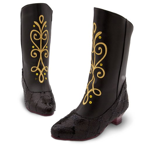 THE DISNEY STORE EXCLUSIVE Disney FROZEN Anna Boots Size 2 - 3 Youth
