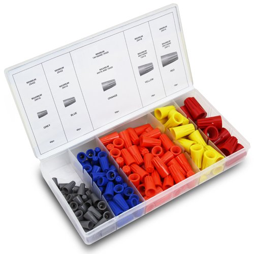 Xtremepowerus 158Pc Electrical Wire Nut Twist Connector Cap W/ Spring Insert Assortment Kit