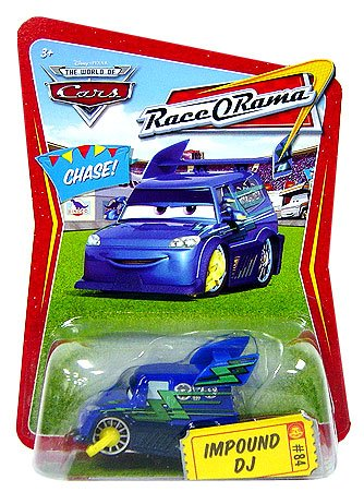 Disney / Pixar CARS Movie 155 Die Cast Car Series 4 RaceORama Impound DJ Chase Piece!
