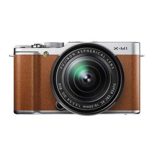 FUJIFILM ミラーレス一眼カメラ X-M1 レンズキット ズームレンズ付属 1630万画素APS-C ブラウン F X-M1BW/1650KIT