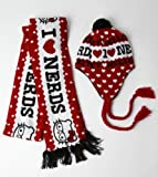 Loungefly Hello Kitty Red Nerd Knit Scarf and Beanie Hat Set