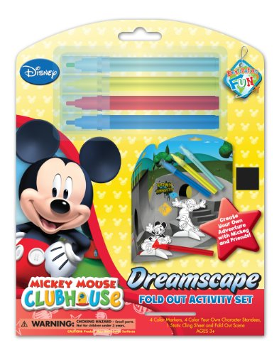 National Design Disney Mickey Dreamscape Foldout Activity Play Set