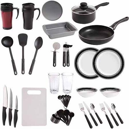 Gibson home complete kitchen cookware 38 piece combo set for Kitchen combo set 50 pcs