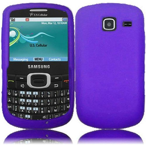 Cell Accessories For Less (Tm) For Samsung Freeform 4 R390 Samsung Comment 2 Ii R390C Silicone Skin Cover Case - Purple - By Thetargetbuys *Free Shipping*