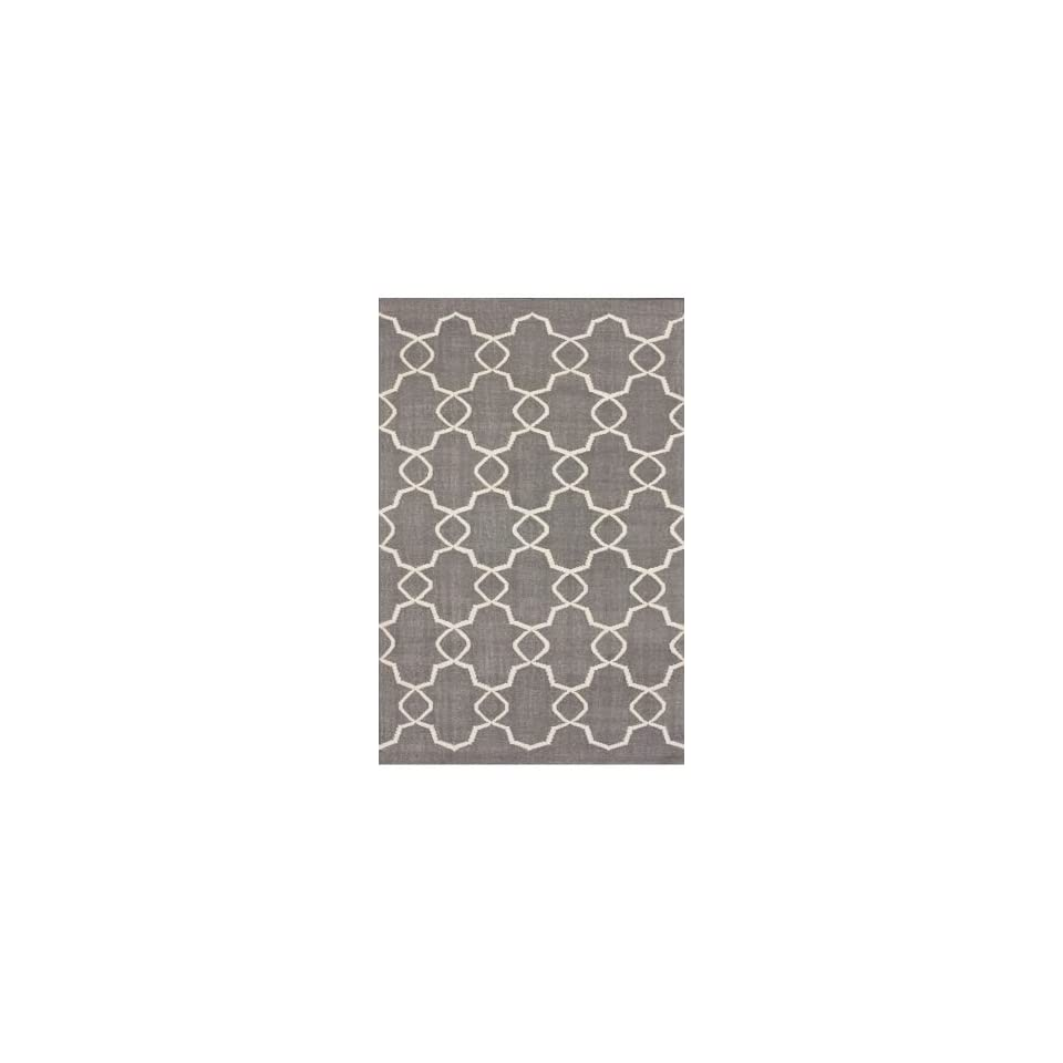 Rugs USA Elmer Flatwoven 7 6 x 9 6 grey Area Rug