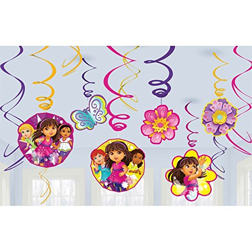 Amscan Dora and Friends Swirl Decorations