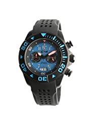 Carbon 14 Men's W1.4 Water 100M Chronograph Blue and Black Dial Watch