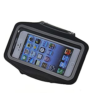 Unisex Multicolour Outdoor Sports Armband Case Cover for Iphone5 (Black)