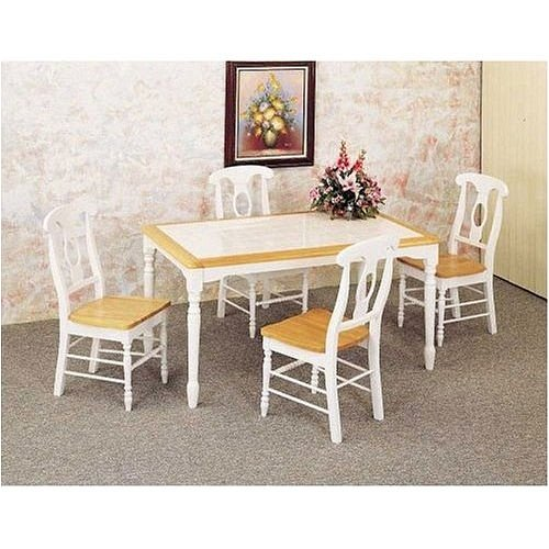Buy Low Price Coaster 5 Piece Natural-White Dinette Set By Coaster Furniture (VF_AZ01-13447–1)