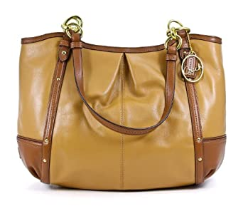 Coach Women's Shoulder Bag, Camel/Saddle, One Size