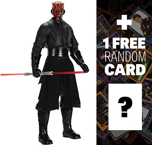 "Darth Maul: ~18"" Giant Star Wars Classic Action Figure + 1 FREE Official Star Wars Trading Card Bundle"