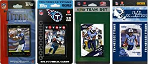 NFL Tennessee Titans 4 Different Licensed Trading Card Team Sets by C&I Collectables