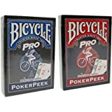 Bicycle Pro Poker Peek Playing Cards - 2 Decks!