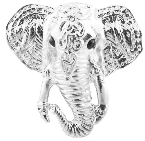 3 Pieces of Ladies Silver Elephant Face Brooch
