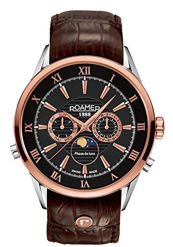 Roamer of Switzerland - 508821 49 53 05 - Montre Homme - Quartz - Chronographe - Bracelet Cuir Marron