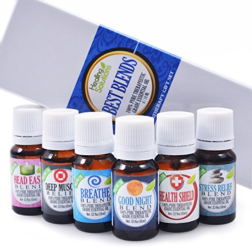 Best-Blends-Set-of-6-100-Pure-Best-Therapeutic-Grade-Essential-Oil-610mL-Breathe-Good-Night-Head-Ease-Muscle-Relief-Stress-Relief-and-Health-Shield