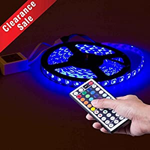 [Christmas Clearance Sale]VDOMUS® 16.4FT SMD 5050 Waterproof 300LEDs RGB Flexible LED Strip Light Lamp Kit , Christams Decoration Lights+RF Wireless Remote Controller+ Power Supply