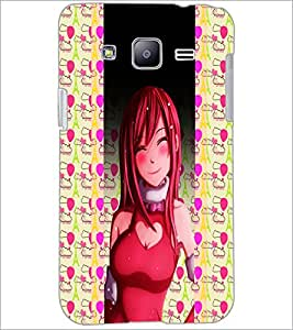 PrintDhaba SweetGirl D-4993 Back Case Cover for SAMSUNG GALAXY J2 (Multi-Coloured)