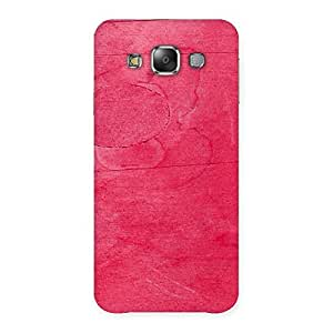 Pink Wood Work Back Case Cover for Galaxy E7