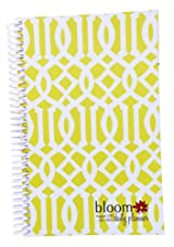 2013-2014 bloom Academic Year Daily Day Planner Fashion Organizer Agenda August 2013 Through July 2014 Avocado Trellis