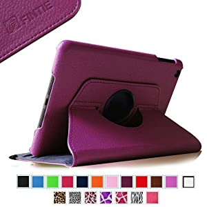 Fintie (Purple) 360 Degrees Rotating Stand Leather Case Cover for Apple iPad mini 7.9 inch Tablet With Auto Wake / Sleep Feature - 9 Colors Options
