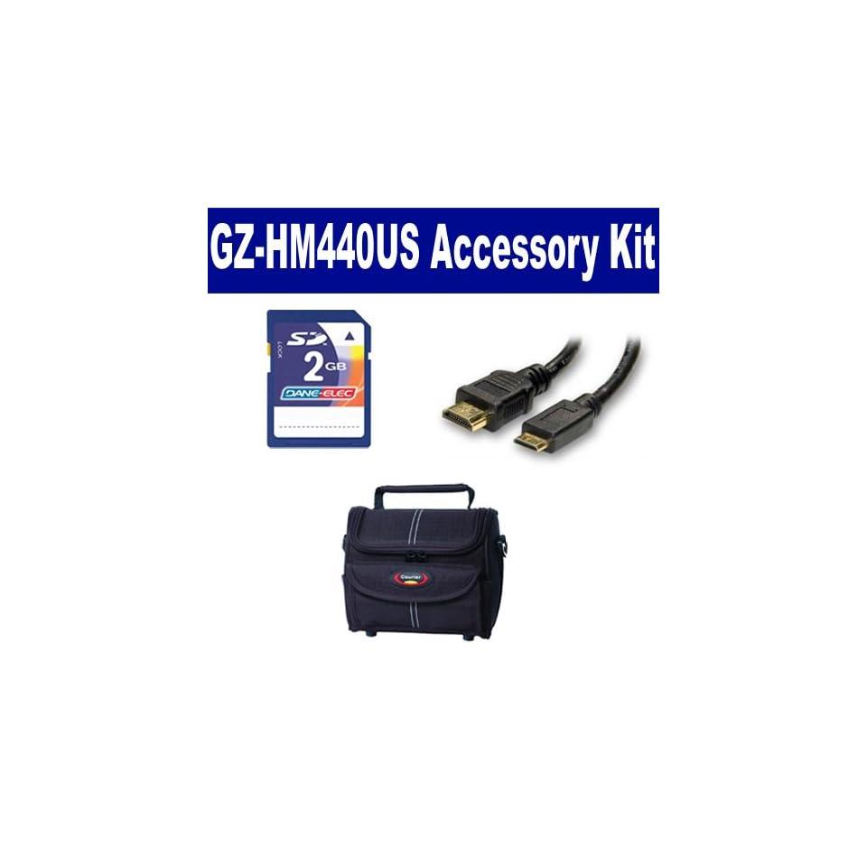 JVC GZ HM440US Camcorder Accessory Kit includes KSD2GB Memory Card, ST80 Case, HDMI6FM AV & HDMI Cable  Digital Camera Accessory Kits  Camera & Photo