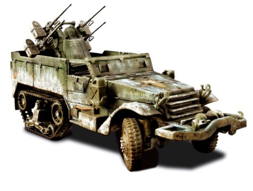 Buy Low Price Forces of Valor U.S. M16 Multiple Gun Motor Carriage – Ardennes, 1944 Figure (B0006O6EZU)