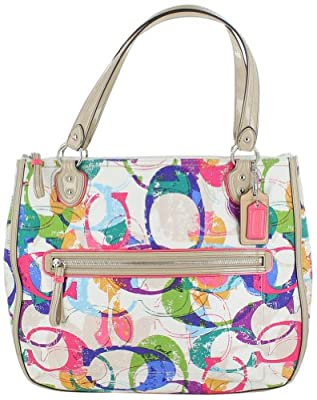 Coach Signature Multi Color Womens Tote Handbag by Coach