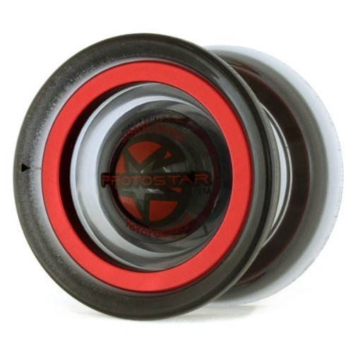 Yoyofactory Protostar Yoyo Translucent Black w/ Red Rings by YoYoFactory