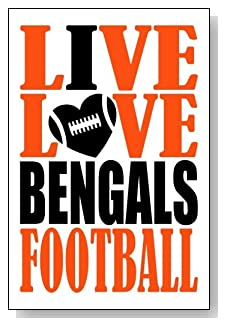 Live Love I Heart Bengals Football lined journal - any occasion gift idea for Cincinnati Bengals fans from WriteDrawDesign.com