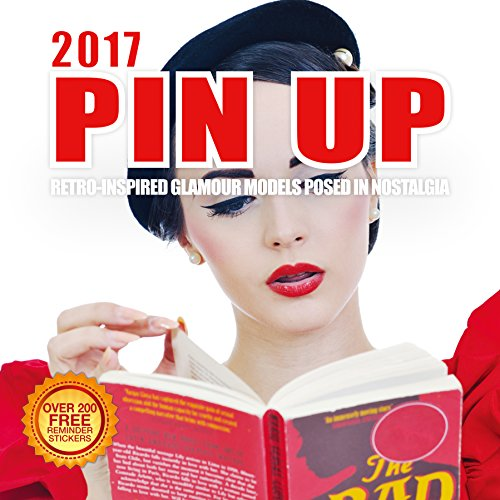 2017 Pin Up Calendar 12 x 12 Wall Calendar - 210 Free Reminder Stickers (2015 Custom Wall Calendar compare prices)