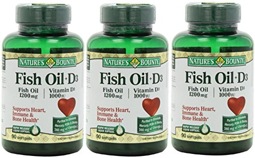 Mua vitamin d3 nature 39 s bounty omega 3 d3 fish oil 1200 for Nature s bounty fish oil 1200 mg