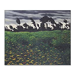 Felix Vallotton Blooming Fields 1912 Original Landscapes Oil Painting Reproduction on Gallery Wrapped Canvas 30X25 inch
